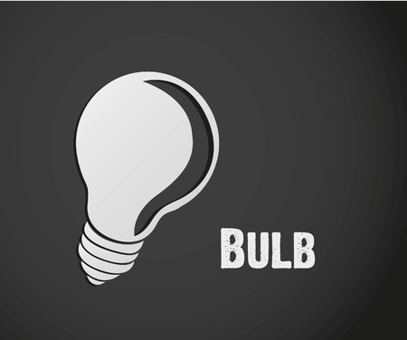gray bulb: label design of bulb isolated on gray background