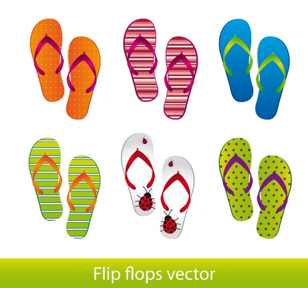 flip flops   Stock Vector - 13338295