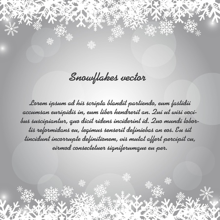 snowflakes over silver background. Stock Vector - 13338858