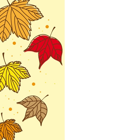 cute autumn leaves with space for copy.  Stock Vector - 13338180