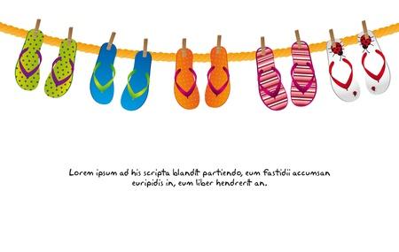 cute flip flops   Illustration