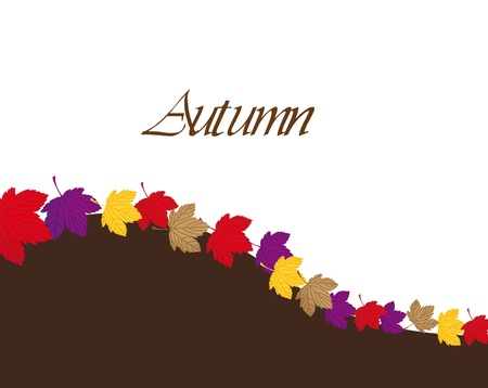 autumn leaves with space for copy, background.   Stock Vector - 13338577