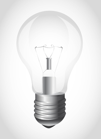 light bulb over gray background.