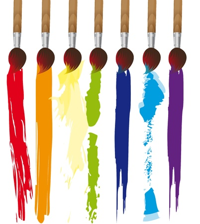 black dye: paint brush over white background.