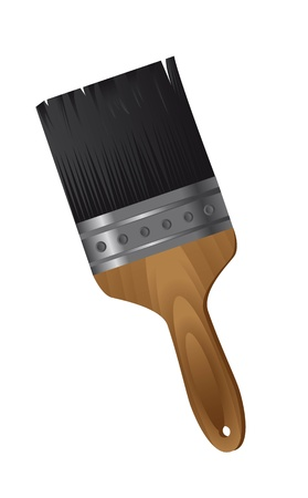 paint brush isolated over white background.  Stock Vector - 13439073