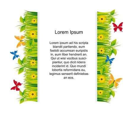 garden with butterflies  Stock Vector - 13440563