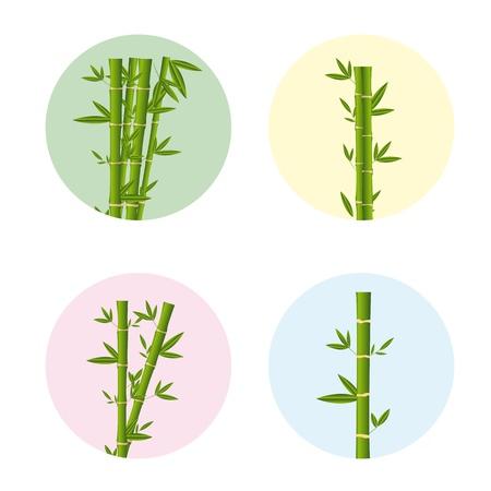 bamboo sticks over white background. Stock Vector - 13439081