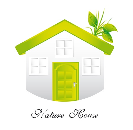 ecology house isolated over white background. Stock Vector - 13439034