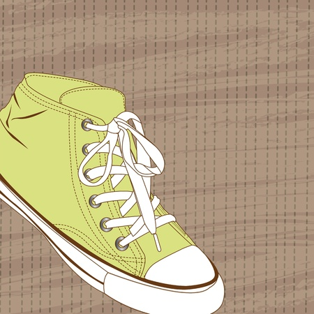 cute sneaker Stock Vector - 13440697