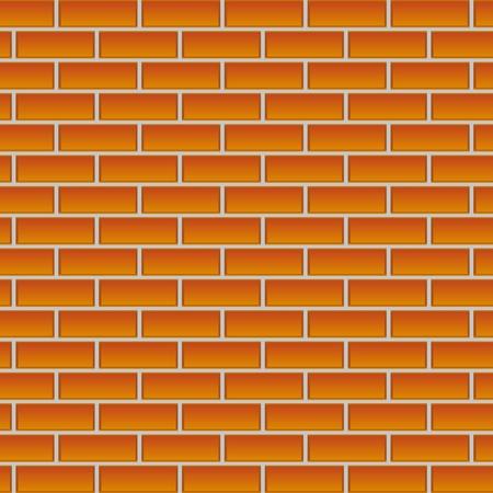 blank bricks wall, background. vector illustration  Illustration
