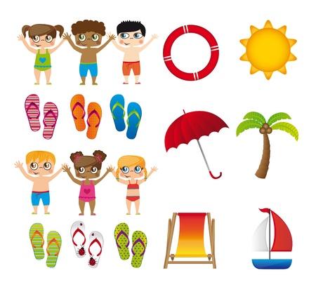 swim boy: children vacation isolated over white background.