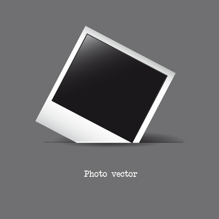 photo frame over gray background. vector illustration Vector