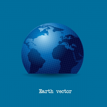 blue earth over blue background. vector illustration Stock Vector - 13600074