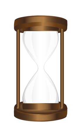 blank hourglass isolated over white background. vector illustration Vector