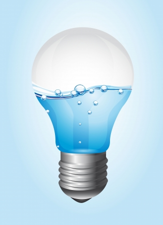 light bulb with water over blue background. vector illustration Stock Vector - 13600033