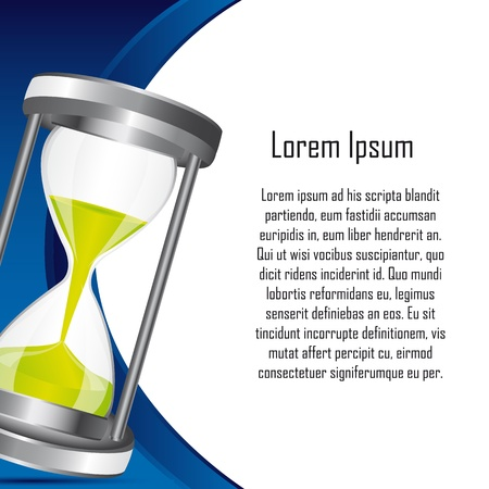 space text: hourglass with space for copy backkground. vector illustration Illustration