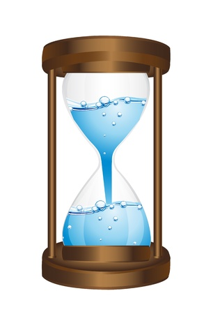 healt: hourglass with water isolated over white background. vector Illustration