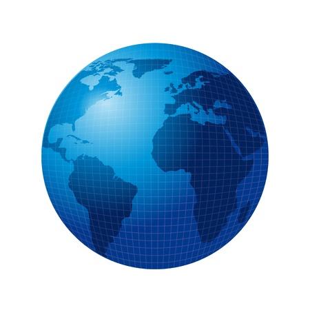 blue world isolated over white background. vector illustration Stock Vector - 13600096