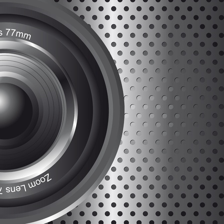 lense: zoom lens with space for copy background. vector illustration