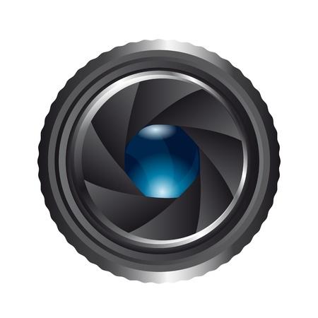 camera shutter isolated over white background. vector illustration Stock Vector - 13599583