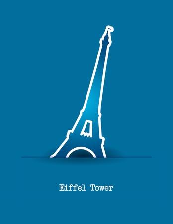 eiffel tower over blue background. vector illustration Vector