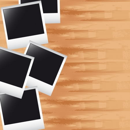 photos over wooden with space for copy background. vector
