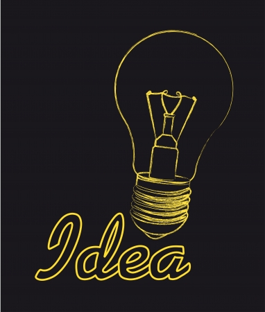 flash light: ligh bulb over black background, idea. vector illustration