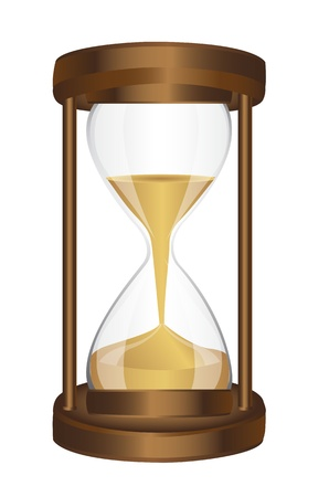 hourglass with sand isolated over white background. vector Stock Vector - 13599549