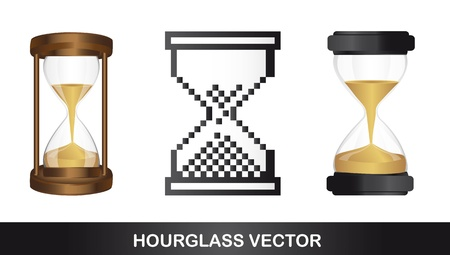 hourglasses isolated over white background. vector illustration Stock Vector - 13599667