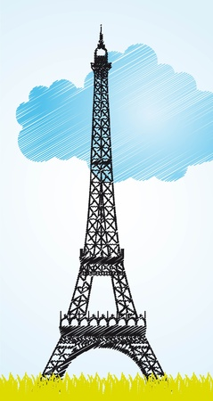 Eiffel tower Stock Vector - 14042562