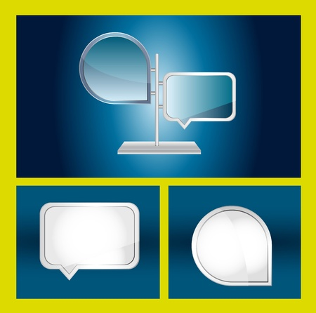 blank desing templates with thought bubbles. vector illustration Vector
