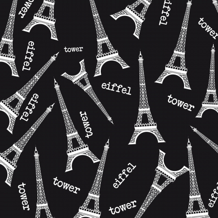 black and white eiffel tower background. vector illustration Vector