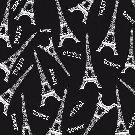 eiffel tower: blanco y negro de fondo la Torre Eiffel. ilustraci�n vectorial