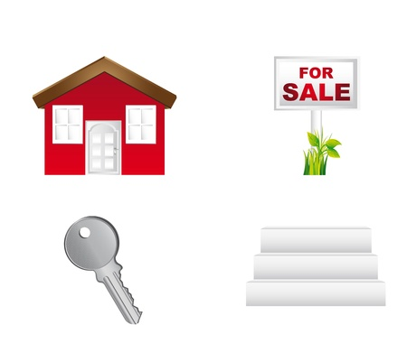 house icons sale isolated over white background. vector illustration Vector