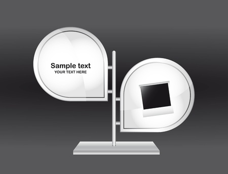 display stand: blank design template over gray background. vector illustration