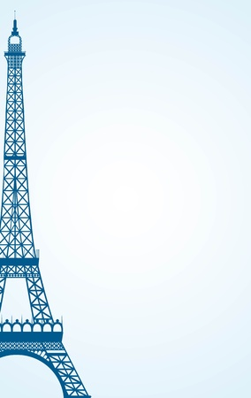 tour eiffel: eiffel tower over blue background. vector illustration Illustration