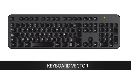 black keyboard isolated over white background. vector Stock Vector - 13600003