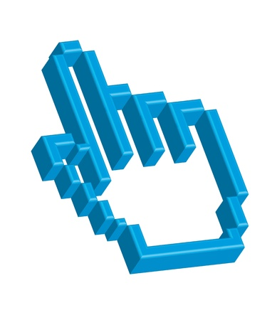 clique: 3d cursor hand isolated over white background. vector