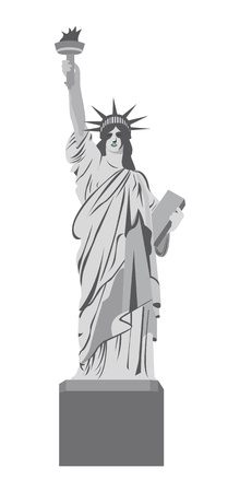 statue of liberty isolated over white background. vector illustration