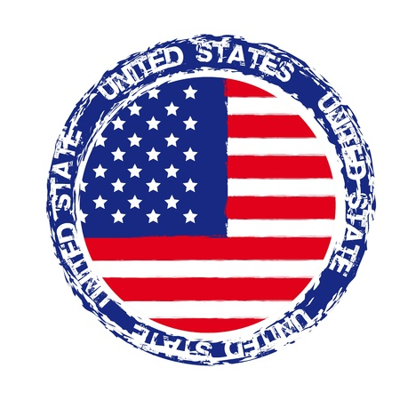 united states seal isolated over white background. vector Vector