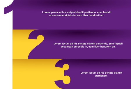 page layout design: design templates numbers with space for copy. vector Illustration