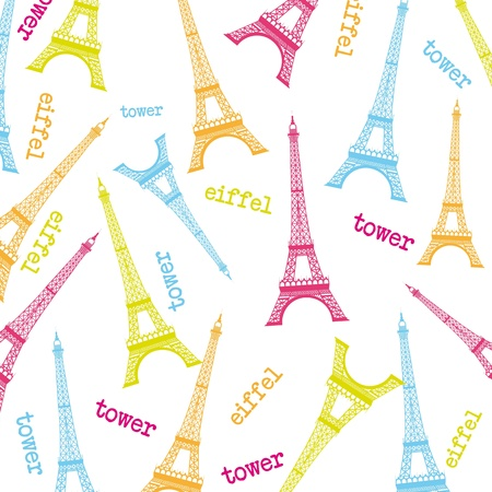 eifel tower: cute eiffel tower over white background. vector illustration
