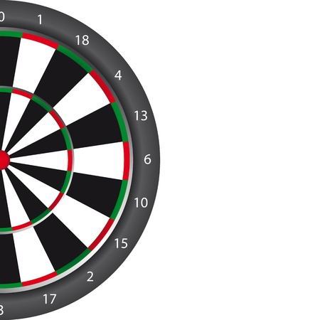 Dart board with space for copy over white background. vector Vector