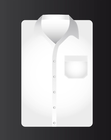 formal shirt: businessman t shirt over black background. vector illustration Illustration
