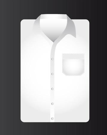 businessman t shirt over black background. vector illustration