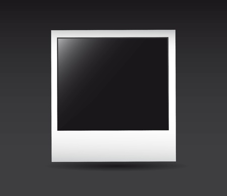 blank photo with shadow over gray background. vector illustration Stock Vector - 13755199