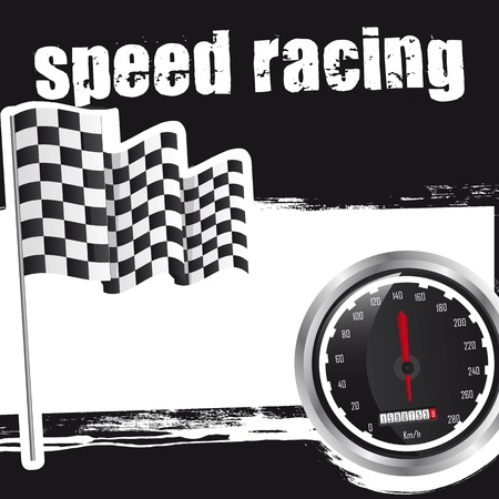speed racing background with space for copy. vector illustration Vector