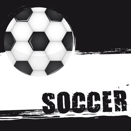 soccer ball with space for copy, grunge. vector illustration Vector