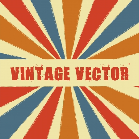 vintage with stripes. vector illustration