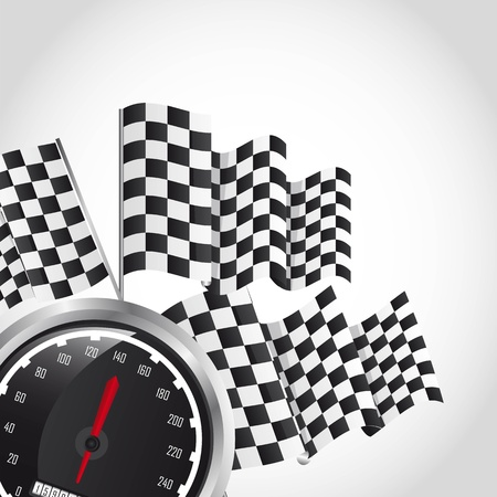 speed racing over gray background. vector illustration Vector